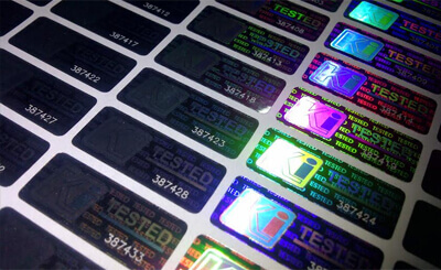 hologram labels and stickers