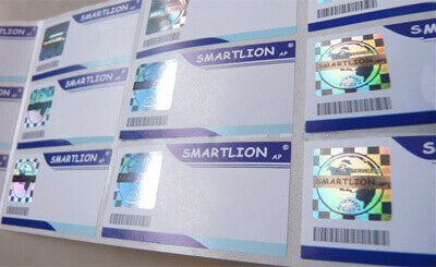Hologram paper labels